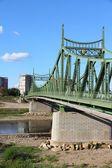 Pont suspendu de la rivière mures — Photo