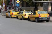 Taxi cabs in Sofia — Stock Photo