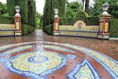 Alcazar gardens in Seville — Stock Photo