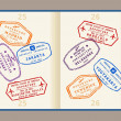 Passport stamps — Stockvektor