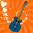 Guitar love — Stock Vector