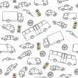 Vehicles background — Imagen vectorial