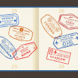 Travel stamps — Vettoriali Stock