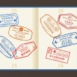 Wektor stockowy : Travel stamps