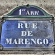 Street sign in Paris — Stock Photo #30452571