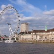 Eye is the tallest ferris wheel in Europe. — Stock Photo