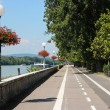 Bratislava - Danube embankment — Stock Photo