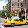 Yellow cab in New York — Stock Photo