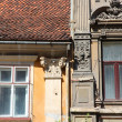 Old windows in Romania — Stock Photo