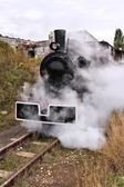 Poland old steam train — Stock Photo
