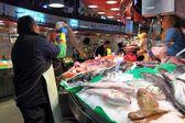 Barcelona fish market — Stock Photo