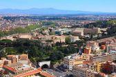 Vue aérienne avec le jardin botanique de janicule célèbre colline et rome — Photo