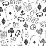 Gambling doodle — Stock Vector