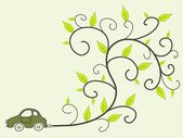 Eco friendly car — Stock Vector