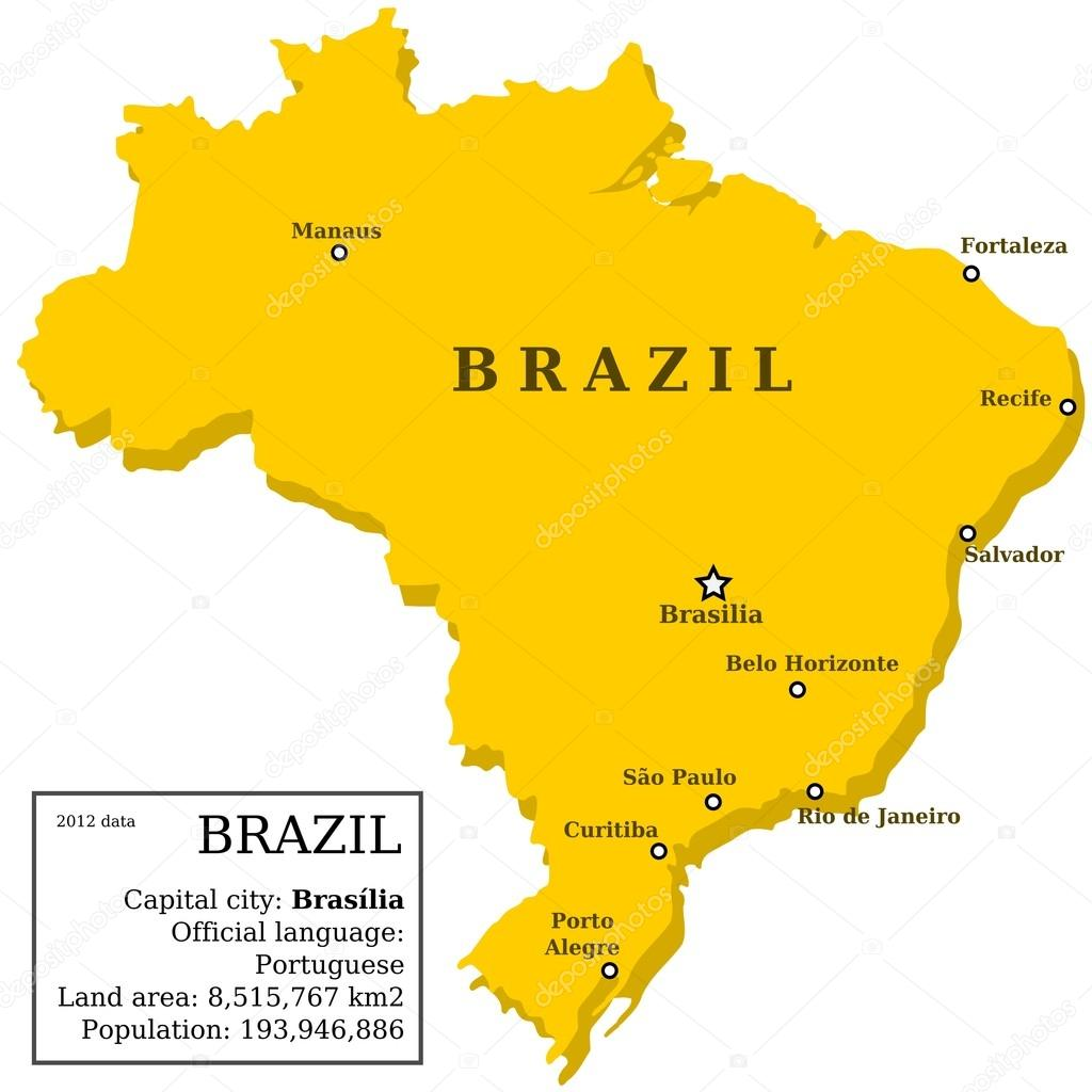 Brazil map — Stock Vector © tupungato 32883567