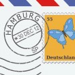 Mail from Hamburg — Stock Vector