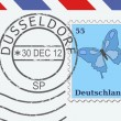 Mail from Dusseldorf — Stock Vector