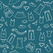 Seamless clothes doodle — Stock Vector
