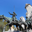 Don Quixote and Sancho Panza statue — Stock Photo