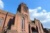 Liverpool - city in Merseyside county of North West England — Stock Photo