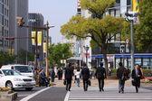 Lidé pěšky města 24. dubna 2012 v kobe, Japonsko. — Stock fotografie