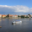 Prague skyline with Vltava river. — Stock Photo #33536033