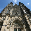 Famous St. Vitus cathedral in Hradcany district. — Stock Photo