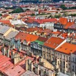 Stock Photo: Old townscape and railroad tracks seen from famous Nuselsky Most
