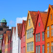 Bergen - famous town in Hordaland county — Stock Photo
