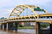 Pittsburgh bridge — Stock Photo