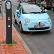 Stock Photo: Electric car charging station