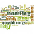 Energy word cloud — Foto de stock #34820345