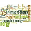 Energy word cloud — 图库照片 #34820345
