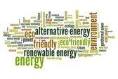 Energie word cloud — Stockfoto