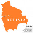 Bolivia map — Stock Vector
