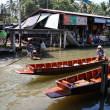 Stock Photo: Floating market, Thailand