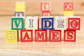Wooden blocks with letters — Stockfoto