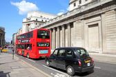 London bus and taxi — Stock Photo