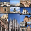 Постер, плакат: Milan collage