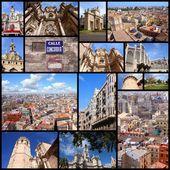 Valencia collage — Stock Photo