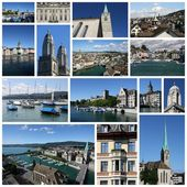 Zurich collage — Stock Photo