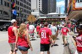 Chicago Blackhawks fans — Stock fotografie