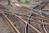铁路开关 — 图库照片