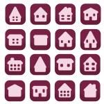 domácí ikony — Stock vektor