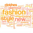 Fashion tag cloud — Stock fotografie