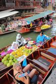 Floating Market, Thailand — Stockfoto