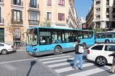 Madrid bus — Stock Photo
