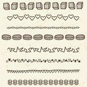 Doodle borders — Stock Vector