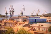 Sea port in Croatia — Stock Photo