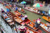 Yüzen market, tayland — Stok fotoğraf